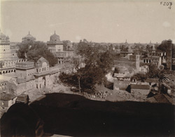 General view of the Raghunathji Temple and surroundings, Orchha